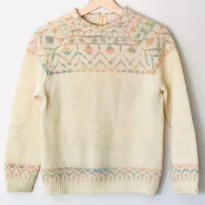 Vintage 80s Pandora Ski-Mates Fair Isle Sweater S
